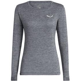 SALEWA Puez Melange Dry Longsleeve T-shirt Dames, quiet shade melange